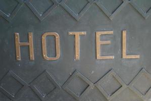 signe de l'hôtel