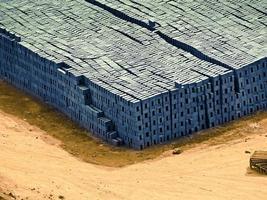 pile de blocs de ciment photo