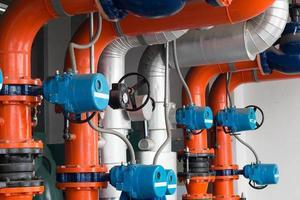 compresseurs de réfrigération à tuyaux. photo