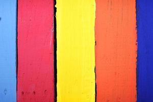 panneaux en bois colorés photo