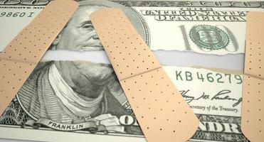 nourri déchiré dollar américain