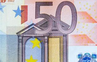 Billet de 50 euros photo