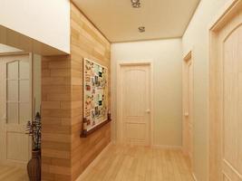 intérieur de conception moderne de hall, couloir. Rendu 3D photo