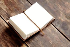 ouvrir le cahier de côté photo