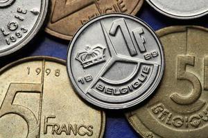 pièces de monnaie de la belgique photo
