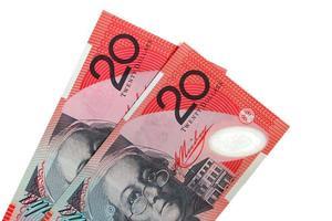 deux billets de vingt dollars australiens photo