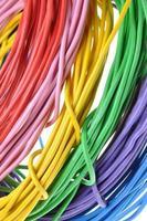 fils de couleurs électriques photo