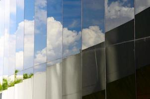 reflétant le ciel bleu