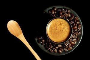 café et grains de café photo