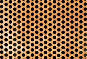 Texture de cercle de grille en métal rouillé patiné photo