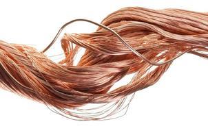 industrie du fil de cuivre rouge photo