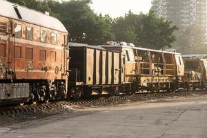 wagons de chemin de fer photo