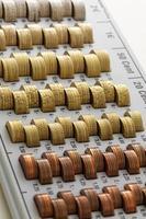 pièces de monnaie de l'union européenne photo