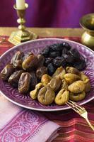 sélection de dattes séchées et figues