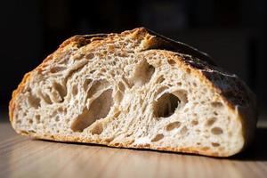 gros plan de pain rustique photo
