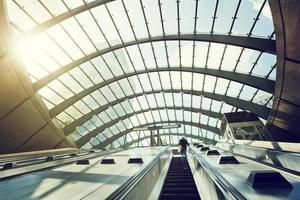 La station de métro Canary Wharf, Londres, Angleterre, Royaume-Uni