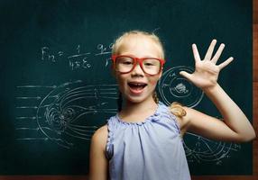 écolière intelligente photo