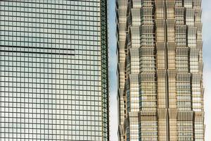 détails de l'architecture tour jin mao shanghai monde financier ce photo