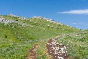 massif montagneux de chatyr-dah en crimée