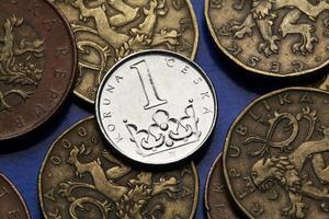 pièces de monnaie de la république tchèque photo