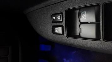 commutateur de signal. détail intérieur de voiture. photo