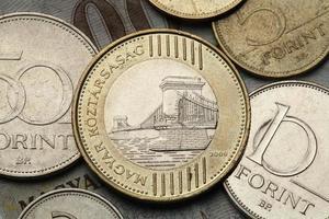 monnaies de hongrie photo