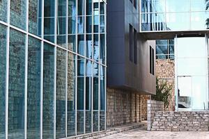 bâtiment verre réflexion rue photo