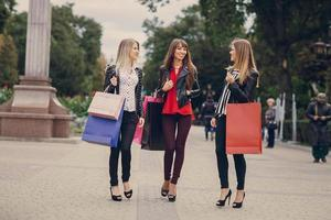 rue commerçante de la mode photo