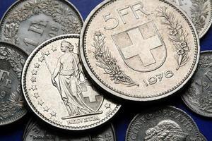 pièces de monnaie de la suisse photo