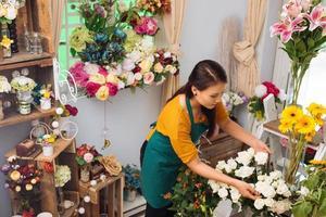 dans un magasin de fleurs photo
