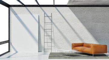 studio loft, affiche maquette photo