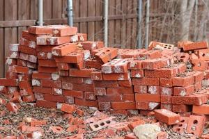 tas de briques photo