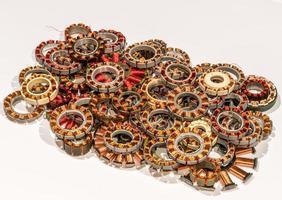 tas de bobines de moteur pour le recyclage photo