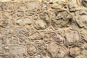 mur de pierre décoré dans le quartier arménien de la vieille ville. Jérusalem. photo