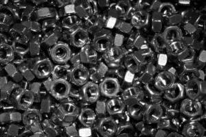 mélange d'écrous hexagonaux photo