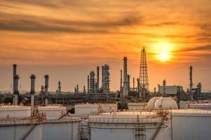 industrie pétrolière et gazière des usines pétrochimiques photo