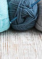 crochet et fil à tricoter photo