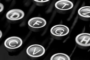 touches de machine à écrire photo