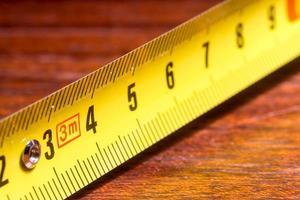 ruban à mesurer en métal pour la maison bricolage photo
