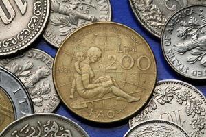 pièces de monnaie de l'italie photo