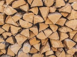tuile de bois de chauffage photo