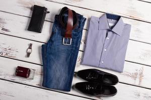 vêtements d'affaires élégants. photo