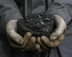 charbon entre les mains photo