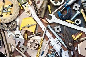 outils de construction et de mesure photo