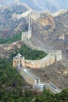 grande muraille de chine avec ciel clair photo