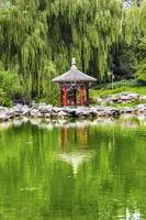 pavillon rouge jardin de lotus temple de sun park beijing chine photo