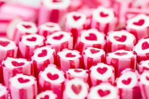 coeur dans des cannes de bonbon photo