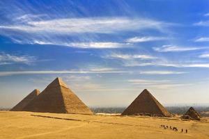 les pyramides de gizeh photo