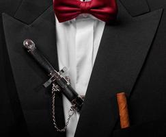 closeup costume de soirée