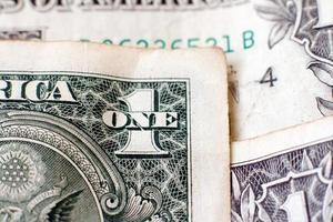 Gros plan de fragment de dollars photo
